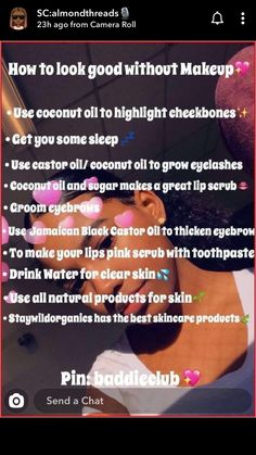 Beauty Tips For Glowing Skin, Clear Skin Tips, Health And Beauty Tips, Anti Aging, Glow Up Tips, How To Grow Eyelashes, Baddie Tips, Girl Tips, Healthy Skin Care