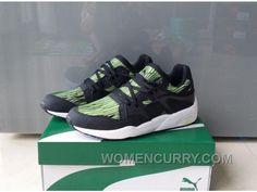 Puma Trinomic Blaze 361340-03 Black Green New Style a2b1dea2d