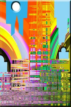 "Saatchi Online Artist Boi K' Boi; Digital, ""My Graphic World: Abstract City"" #art"