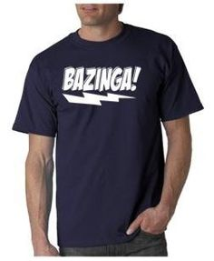 Bazinga t-shirt inspired by the TV Show The Big Bang Theory.