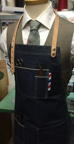 barber apron by sartorandvillain on Etsy https://www.etsy.com/listing/250219332/barber-apron