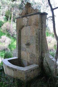 page two of our antique reclaimed limestone water wall fountains by ancient surfaces