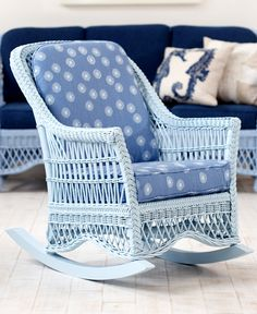 Wicker By Maine Cottage Francine Rocker Wickerfurniture Coastal Cozy