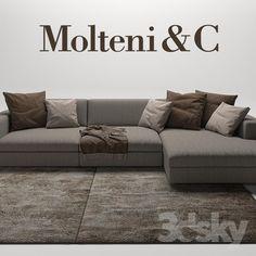 модели: Диваны - Turner Sofas Molteni & C Living Room Sofa Design, Living Room Decor, Grey L Shaped Sofas, Plaid Sofa, Wall Mural Decals, Mod Furniture, 1st Apartment, Sofa Set, Modern Interior Design