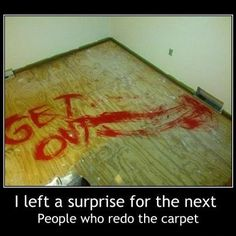 The next person to lift the carpet will get a lil shock!