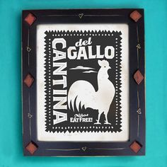 Kitchen Art Print Cantina Mexican Rooster by DexMex on Etsy, $16.00
