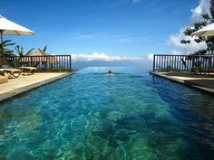Bali Infinity Pool swimming to the edge of eternity.