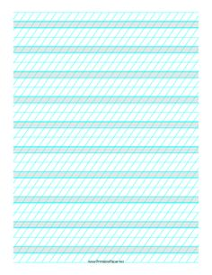 This printable calligraphy paper has fine lines for practicing ...