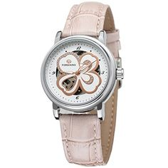 Forsining Womens Stylish Automatic Selfwinding Skeleton Leather Strap Analogue Watch FSL8014M3S8 ** Learn more by visiting the image link.Note:It is affiliate link to Amazon.