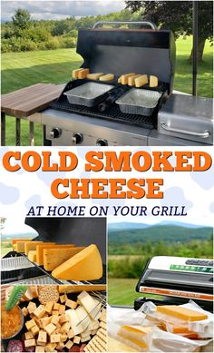 Learn how to cold smoke cheese on your BBQ grill. Making cold smoked cheese is real easy to do, and today is the day you're going to learn! Cooking For One, Cooking Tips, Cooking Food, Easy Cooking, Cooking Recipes, Bbq Grill, Grilling, Chinese Lemon Chicken, Vegan Pizza Recipe