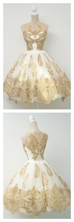 elegant homecoming dresses, vintage homecoming dresses, applique homecoming dresses,gold homecoming dresses, party dresses,graduation dresses#SIMIBridal #homecomingdresses