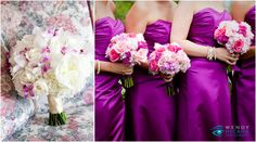 Pink, purple, and white flowers by Flowers & Fancies at a beautiful Baltimore Greek wedding. Photo by Wendy Hickok Photography – Annapolis, Maryland www.hickokphotography.com