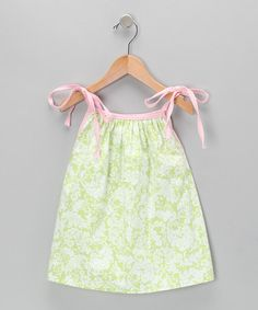 Take a look at this Green Damask Tank - Toddler & Girls by Beehave on #zulily today!