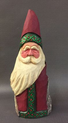 A personal favorite from my Etsy shop https://www.etsy.com/listing/487429717/hand-carved-original-santa-with-raised