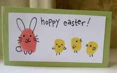 cute homemade easter card