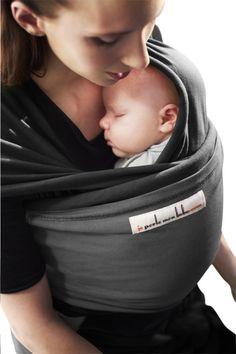 Image pour Je porte mon bebe Écharpe de portage extensible Originale  black charcoal grey à 6aede45ce4e