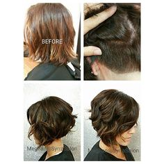 Not all Undercuts are super edgy. Simply taking weight out of the nape of the head will help with excessive ...