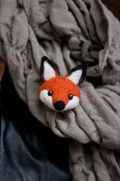 felt fox | Henry, Needle Felted Fox Pin · Milo&Ben · Online Store Powered by ...