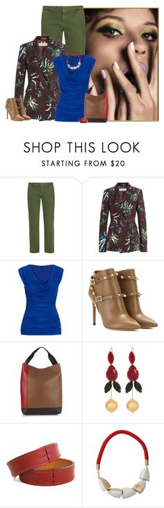 """""""floral print blazer"""" by niteowlgirl ❤ liked on Polyvore featuring Nili Lotan, Emilio Pucci, maurices, Valentino, Marni and Hermès"""