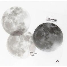 Post-its / notes adhésives lune Moon memo