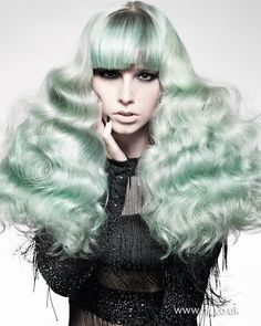 Hooker & Young 2012 British Hairdresser of the Year Finalist. Green hair.