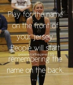 I really like this quote! For any sport! I think more parents need to tell their… I really like this quote! For any sport! I think more parents need to tell their children this! Stop being an individual and start playing as a TEAM! Volleyball Motivation, Sport Motivation, Quotes Motivation, Softball Quotes, Sport Quotes, Inspirational Volleyball Quotes, Team Quotes, Quotes About Sports, Motivational Soccer Quotes
