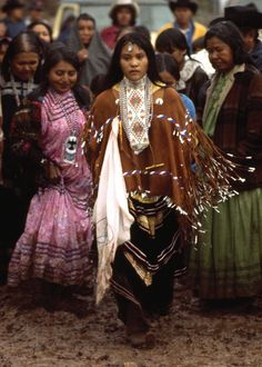 Apache Tribe Arizona, USA-    Nita Quintero at her Sunrise Dance (Na'ii'ees), White Mountain Apache Tribe, Arizona. Photo: Bill Hess, National Geographic, February 1980. Nita is now one of the members of Apache 8.