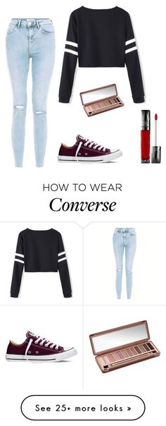 """""""cute, chic, and converse"""" by janeelise on Polyvore featuring New Look, Converse and Urban Decay #cuteteenoutfits"""
