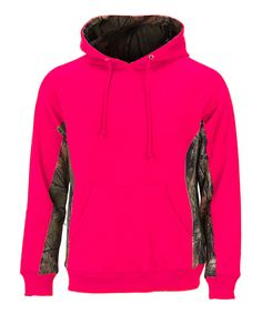 Neon Pink & Camouflage Cambrillo Hoodie - Plus Too