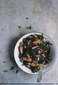Winter Chopped Kale Salad with a Meyer Lemon Vinaigrette | With Food + Love / Wholesome Foodie <3