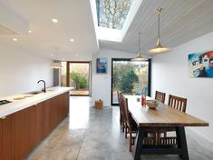 London Fields 2 | ZCD Architects | Archinect London Fields, Concrete Furniture, Concrete Floors, Two Storey House, Planning Permission, Roof Light, House Extensions, Interior Inspiration, Decor Styles
