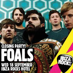 Foals Ibiza Rocks Closing Party / http://www.ibizarocks.com/events/all-events/ibiza-rocks-closing-party-with-foals/