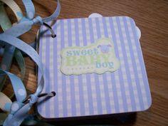 Baby Boy Premade Mini Scrapbook Album by HampshireRose on Etsy, $25.00
