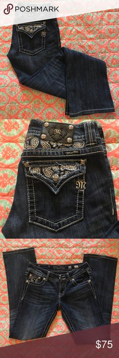 """Miss Me Bootcut Jeans Size 28 Gently used jeans. Inseam 30"""" rise approx 8"""".  So cool! Miss Me Jeans Boot Cut"""