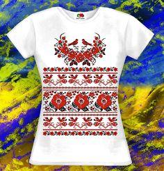 Ornament patriotic T-shirt Ukrainian traditional clothes