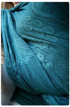 Tsumiko gradation-dyed Didymos Petrol Pfau 6 #babywearing #sling