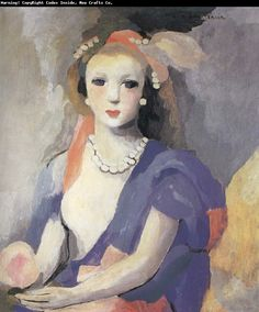 Marie Laurencin Female bust oil painting picture
