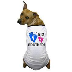 CafePress - Big Brother Baby Footprints - Dog T-Shirt, Pet Clothing, Funny Dog Costume