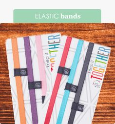 Elastic Bands: Add bands to your book! Mix and match with our NEW shades of elastic bands now in TWO sizes! #EClifeplanner #erincondren