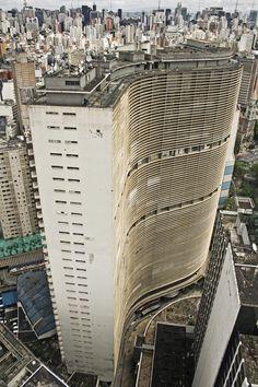 Brazil, Sao Paulo, High angle view of Copan Building