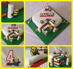 Lego Minion cake