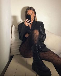 Casual Outfits, Cute Outfits, Fashion Outfits, Womens Fashion, Dress Casual, Fashion Fashion, Dark Fashion, Winter Fashion, Mode Grunge