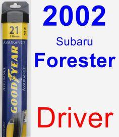 Driver Wiper Blade for 2002 Subaru Forester - Assurance