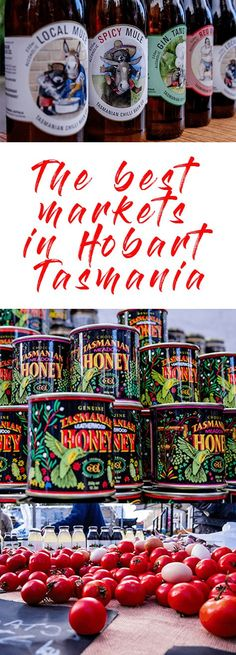 """The best markets in Hobart : two """"must-see"""" market experiences. Don't miss the Salamanca Markets and the Farm Gate Markets when visiting Hobart in Tasmania. Markets in Hobart Australia Holidays, Visit Australia, Australia Travel, Tasmania Road Trip, Tasmania Travel, Salamanca Market, Wanderlust, New Zealand Travel, New Travel"""