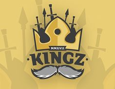 "Check out new work on my @Behance portfolio: ""KINGZ - eSports Logo"" http://be.net/gallery/59624655/KINGZ-eSports-Logo"