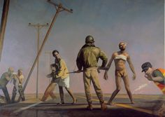 Bo Bartlett - Damascus Road, 1988 - Oil on Linen - 120 x 168 American Realism, American Artists, The Bo, Bo Bartlett, Powerful Art, Lifelong Friends, Mobile Art, Andrew Wyeth, Portraits