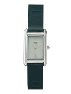 koovs - Titan Raga Silver Rectangle-Dialled Watch For Women