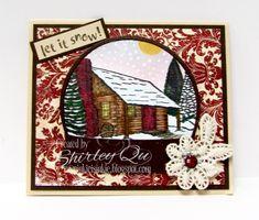 WT670~Snowy Cabin Snow Globe
