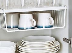 Under Shelf Cabinet Basket Storage Steel Kitchen Hanging Countertop Space Saving Shelves, Steel Kitchen, Kitchen Storage, Kitchen Remodel, Tiny Kitchen, New Kitchen Cabinets, Kitchen Shelves, Space Saving, Kitchen Organization Pantry