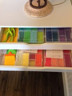 Perler bead storage organization